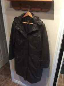 DANIER brown leather coat
