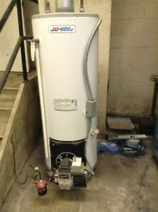 Oil fired hot water heater