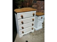Shabby Chic Pine Chest of Drawers (delivery available)