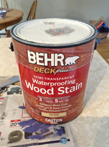 Blue waterproofing wood stain