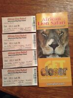 AFRICAN LION SAFARI - family pack of 4