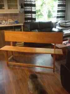 5ft solid oak bench seat