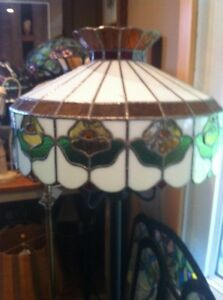 Large Stained glass floor lamp