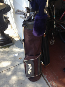 Ping Golf Bag and some clubs