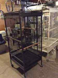 Charcoal powder coated parrot cage