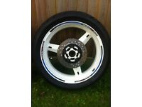 Suzuki gsxr k1 k2 k3 front & rear wheels