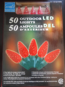 Costco Red LED Outdoor Christmas Lights