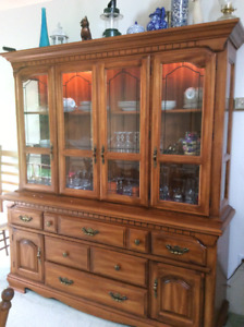 Colonial style buffet and hutch