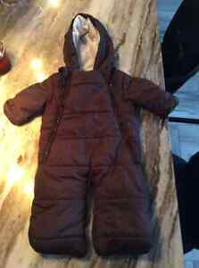 Brown one piece snow suit 3-6 mths St. John's Newfoundland image 1