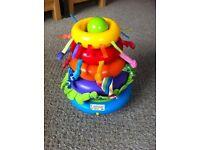 Lamaze stacking musical spinning rings,