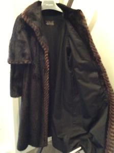 Manteau de véritable vison pour dame