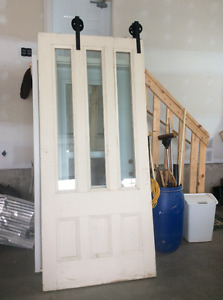Two Antique Sliding Doors