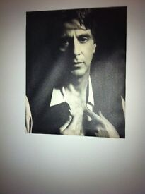 Photo and canvas print of 2 actors