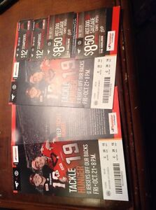 2 tickets to Calgary Stampeders game.