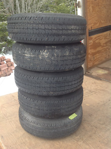 255/75/16 tires and steel Jeep wheels