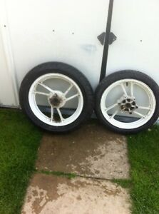 Front and rear tire from susuki