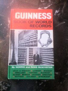 Vintage 1969 Guinness Book of World Records!!!!!