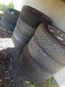 4 X 14 inches rims with tires (4X100) 195/60/R14