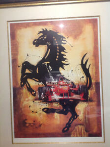 Ferrari Litho by SylvIn Tremblay