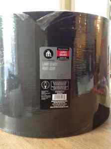 Large drum shape Black lamp shade brand new, still wrapped