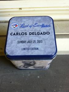 Toronto Blue Jays / Carlos Delgado Stats Ball & Collector Tin