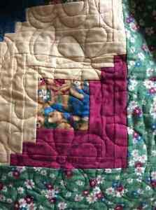 Log cabin Block Quilt, flannel,  professionally machine quilted Edmonton Edmonton Area image 2
