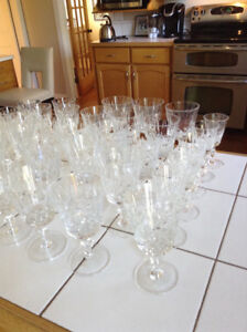 Cross and olive crystal glasses . Downsizing sale