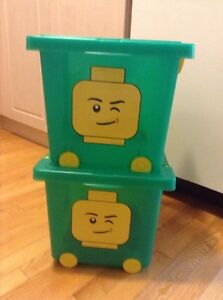 ~NEW~ Lego Storage Bin with Wheels, Green colour