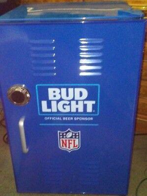 Bud Light NFL Mini Locker Refrigerator Blue Man Cave