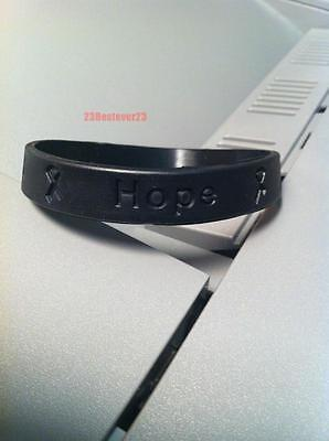 5 Black Melanoma Skin Cancer Awareness Silicone Adult Bracelet Wristbands