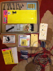 Assorted HO Scale Train Layout Parts