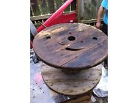 3 cable reels garden tables furniture upstyling