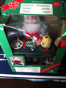 Animated SANTA complete in box CHRISTMAS display