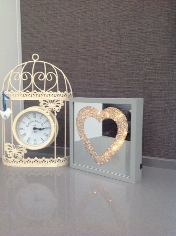 Mirror and clock