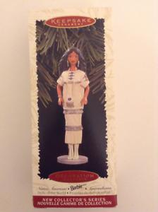 Hallmark Ornament Native American Barbie NRFB
