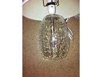 Beautiful crackle glass base lamp