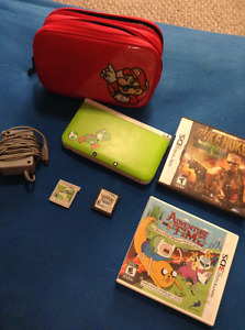 Yoshi Edition 3DS XL with games