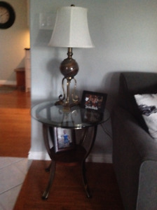 Beautiful lamp and end table not used
