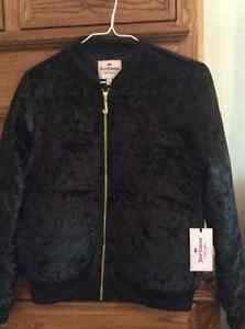 Juicy Couture crushed velvet jacket -black New size S