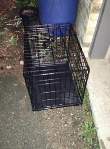 Small black metal dog crate for sale