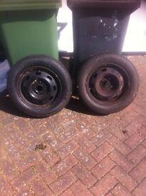 4 stud wheel & tyre