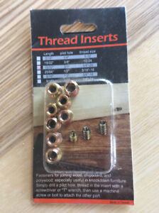 Insertion filetée/ Thread inserts paquet de 8