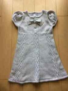 Gymboree gold sparkle knit dress size 2