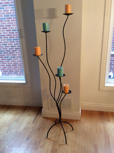 Modern iron  Foot candelabra