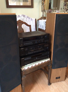 Sony Stereo System with Pioneer Woofer Speakers