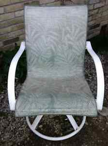 Good condition swivel outdoor chair for sale