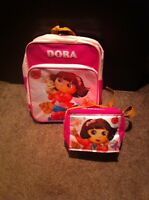 DORA THE EXPLORER BACKPACK AND LUNCHBOX