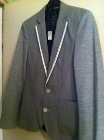 Mens - River Island gray blazer (never worn)