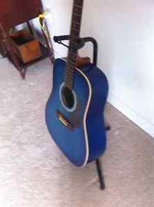 "Art Lutherie Blue ""Wild Cherry"" Guitar Cambridge Kitchener Area image 2"