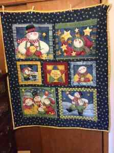 Two Snowman Quilts or Wall Hangings